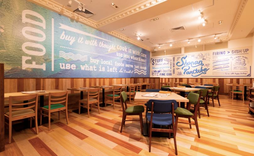 お台場おしゃれカフェの湘南パンケーキ