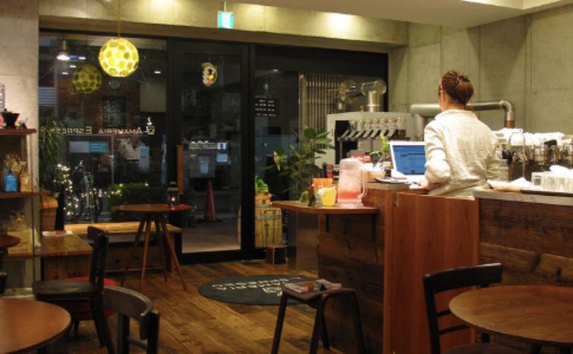 武蔵小山おしゃれカフェのアマメリア エスプレッソ