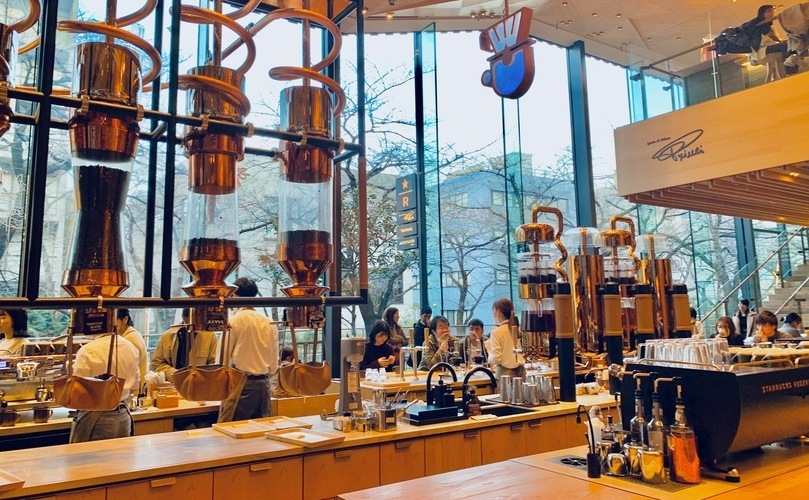 中目黒おしゃれカフェのSTARBUCKS RESERVE ROASTERY TOKYO